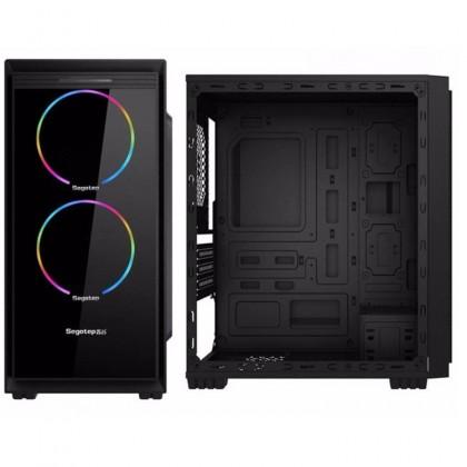 Segotep HALO 6 mATX Mini Gaming Casing / Chasis - Black