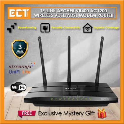 TP-Link Archer VR400 AC1200 Wireless Dual Band VDSL / ADSL Modem Router