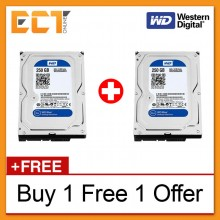 "(Buy 1 Free 1) Western Digital 3.5"" Caviar Blue 250GB 7200RPM 16MB Cache Internal Sata Hard Disk (WD2500AAKX)"