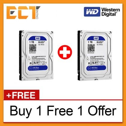 """(Buy 1 Free 1) Western Digital 3.5"""" Caviar Blue 1TB 7200RPM 64MB Cache Internal Sata Hard Disk (WD10EZEX)"""