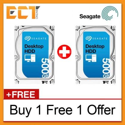 (Buy 1 Free 1) Seagate Barracuda Internal 500GB 3.5'' SATA 6GB/s 16MB Cache Desktop Hard Disk Drive - ST500DM002