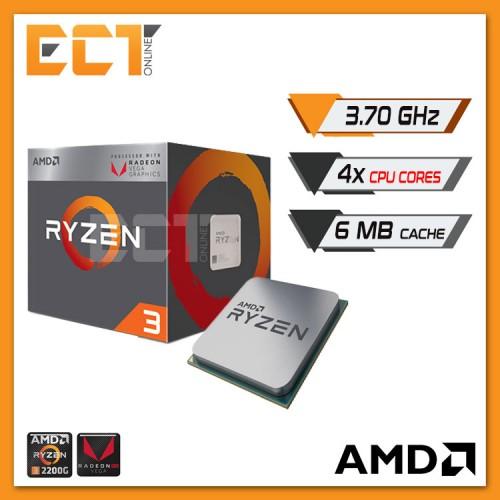 AMD Ryzen 3 2200G Desktop Processor with Radeon™ Vega 8 Graphics (3.70GHz,4 Cores,6MB Cache,AM4 Socket)