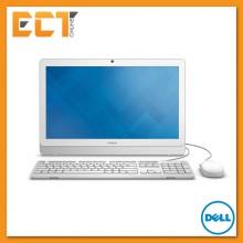 """Dell Inspiron 20 3000 Series (3052) AIO Desktop PC (J3160 2.24Ghz,500GB,4GB,19.5"""" LED,DVD-RW,Win10) - White"""