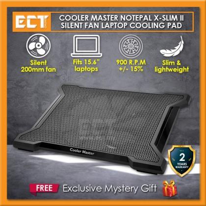 "Cooler Master NotePal X-Slim II Silent 200mm Single Fan Slim Lightweight 15.6"" Laptop Cooling Pad (R9-NBC-XS2K-GP)"