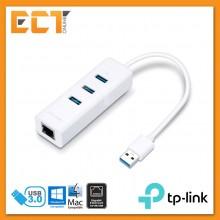 TP-Link UE330 USB3.0 3-Port Hub & Gigabit Ethernet Adapter with 2-In-1 USB Adapter