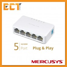 Mercusys TP-Link MS105 5 RJ45 Ports 100Mbps Mini Desktop Switch