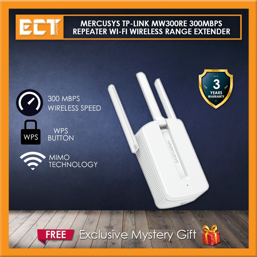 Mercusys TP-Link MW300RE 300Mbps Repeater Wi-Fi Wireless Range Extender
