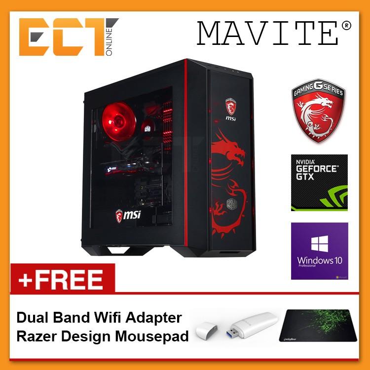 (2018 Latest) Mavite G3 Exclusive MSI Red Theme Gaming Desktop PC  (i5-8600K,GTX1060-6G,240GB SSD+1TB,8GB,W10P)