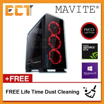 (2018 Latest) Mavite G4 Exclusive Forge Pro Red LED Gaming Desktop PC (i5-8400,GTX1070-8G,240GB SSD,8GB,W10P)