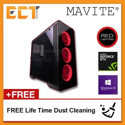 (2018 Latest) Mavite G5 Exclusive Forge Pro Red LED Gaming Desktop PC (i7-8700K,GTX1070-8G,240GB SSD,8GB,W10P)