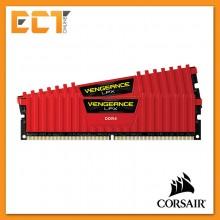 Corsair Vengeance LPX 16GB (8GBx2) DDR4 DRAM 2666MHz C16 Gaming Desktop RAM - Red