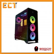 AVF Gaming Freak Aegis 850G Rainbow Tempered Glass ATX Gaming Casing Chassis