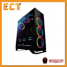 AVF Gaming Freak Falcon 860G RGB Full Tempered Glass ATX Gaming Casing Chassis