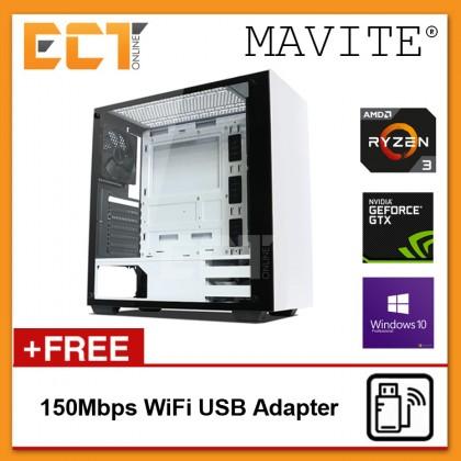(2018 Latest) Mavite B8 Exclusive Forge Budget Gaming Desktop PC (Ryzen 3 2200G,GTX1060-3G,120GB SSD,8GB,W10P)