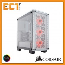 Corsair Crystal Series 460X RGB Compact ATX Mid-Tower Case - White/ Black