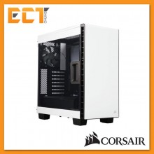 Corsair Carbide Series Clear 400C Compact Mid-Tower Case - White/ Black