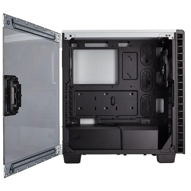 premium selection c889e 68a66 Corsair Carbide Series Clear 400C Compact Mid-Tower Case - White/ Black