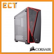 Corsair Carbide Series SPEC-04 Tempered Glass Mid-Tower Gaming Case - Black & Red