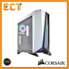 Corsair Carbide Series SPEC-OMEGA RGB Mid-Tower Tempered Glass Gaming Case - White/ Black
