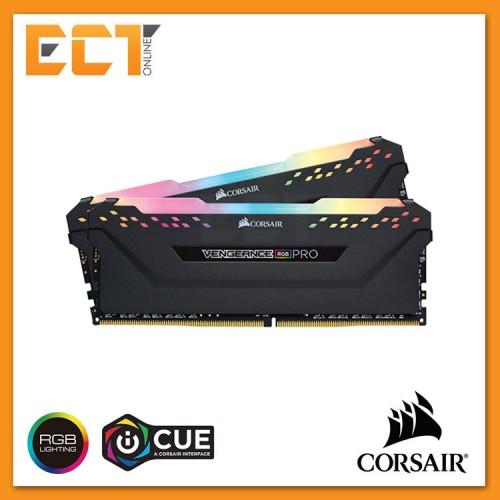 Corsair Vengeance RGB PRO 16GB (8GBx2) DDR4 3600MHz C18 Gaming Desktop RAM  - Black