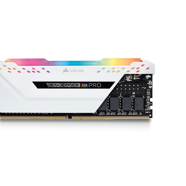 Corsair Vengeance RGB PRO 16GB (8GBx2) DDR4 3600MHz C18 Gaming Desktop RAM  - White