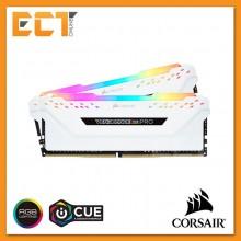Corsair Vengeance RGB PRO 16GB (8GBx2) DDR4 3000MHz C15 Gaming Desktop RAM - White