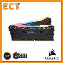 Corsair Vengeance RGB PRO 16GB (8GBx2) DDR4 2666MHz C16 Gaming Desktop RAM - Black