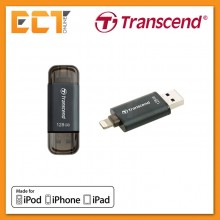 Transcend OTG 128GB JetDrive GO 300 for Apple iOS Lightning - Black/Silver/Red