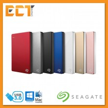 Seagate 1TB Backup Plus Slim Portable Hard Drive - Black/Silver/Blue/Red/White/Gold