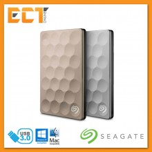 Seagate 1TB Backup Plus Ultra Slim Portable Hard Drive - Platinum/Gold