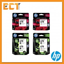 HP 678 Black/ Tri-Color Ink Cartridge