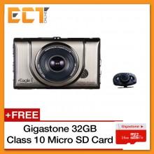 Eagle I EG-10 Dual Camera Full HD Portable Car Video Camera (With Rear Camera)