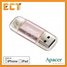 Apacer AH190 64GB USB 3.1/Lightning OTG Dual Flash Drive for iPhone/iPad - Rose Gold