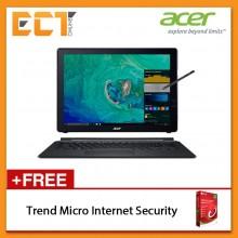 """Acer Switch 7 SW713-51GNP-82MN Laptop (i7-8550U 4.00GHz,512GB,16GB,NV MX150-2G,13.5"""",W10P) - Black"""
