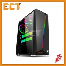 1STPLAYER Rainbow R3 Tempered Glass LED Strip ATX Gaming Casing / Chasis