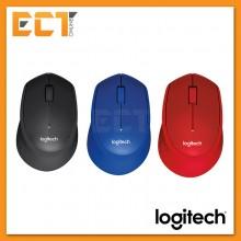 Logitech M331 Silent Plus Wireless Mouse - Black/Blue/Red