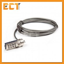 1.8M 4 Digit Password Type Computer Notebook Security Cable Lock with High Quality Alloy (Silver)