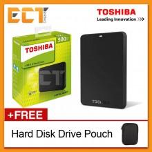 Toshiba Canvio Basics 500GB USB3.0 Portable External Hard Disk Drive - Black