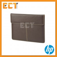 "HP F3W21AA 13.3"" Premium Leather Notebook Sleeve Case"