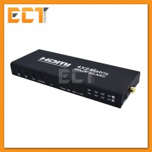 4x2 4 port RoHS HDMI Matrix Splitter Switcher Video Audio with Remote Control (EU Plug)