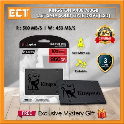 "Kingston A400 960GB 2.5"" SATA Solid State Drive SSD - SA400S37/960G"