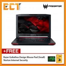 """Acer Predator 15 G9-593-77R4 Gaming Laptop (i7-6700HQ 2.60GHz,16GB,1TB+256GB,GTX1070 6GB,15.6"""" FHD,W10)"""