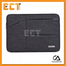"""Canvas Artisan Business Casual 13.3"""" Laptop Sleeve Cover Case for MacBook Air/Pro - Dark Grey/ Grey"""