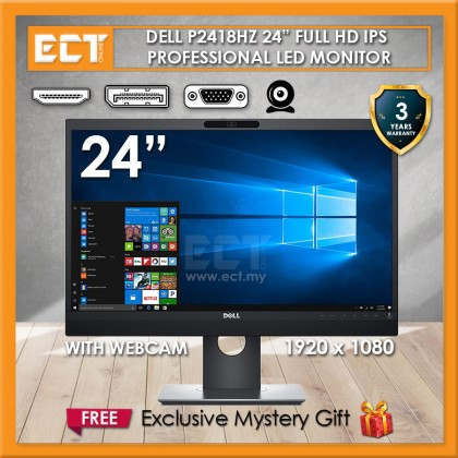 """Dell P2418HZ 24"""" Full HD IPS Professional LED Monitor with Webcam (1920x1080)"""