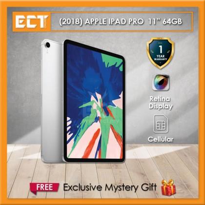 """(2018) Apple iPad Pro MU0U2ZP/A 64GB 11"""" (A12X 2.50GHz,64GB,WiFi+Cellular,11"""") - Silver"""