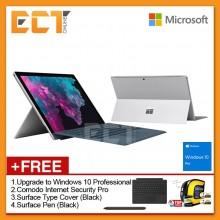 "Microsoft Surface Pro 6 (i5-8250U 3.40Ghz,128GB,8GB,12.3"",W10P) + 4 Free Gift"