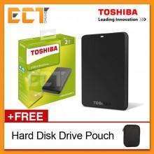 Toshiba Canvio Basics 2TB USB 3.0 Portable External Hard Disk Drive - Black