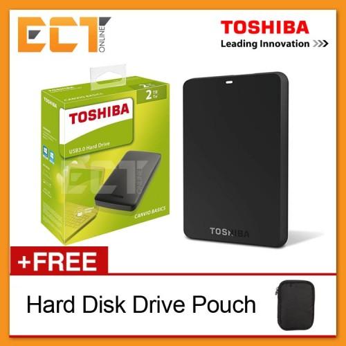 449d3974748c Toshiba Canvio Basics 2TB USB 3.0 Portable External Hard Disk Drive -  Black. 37% off