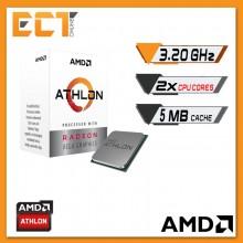 AMD Athlon 200GE Desktop Processor with Radeon™ Vega 3 Graphics (3.20GHz,2 Cores,5MB Cache,AM4 Socket)