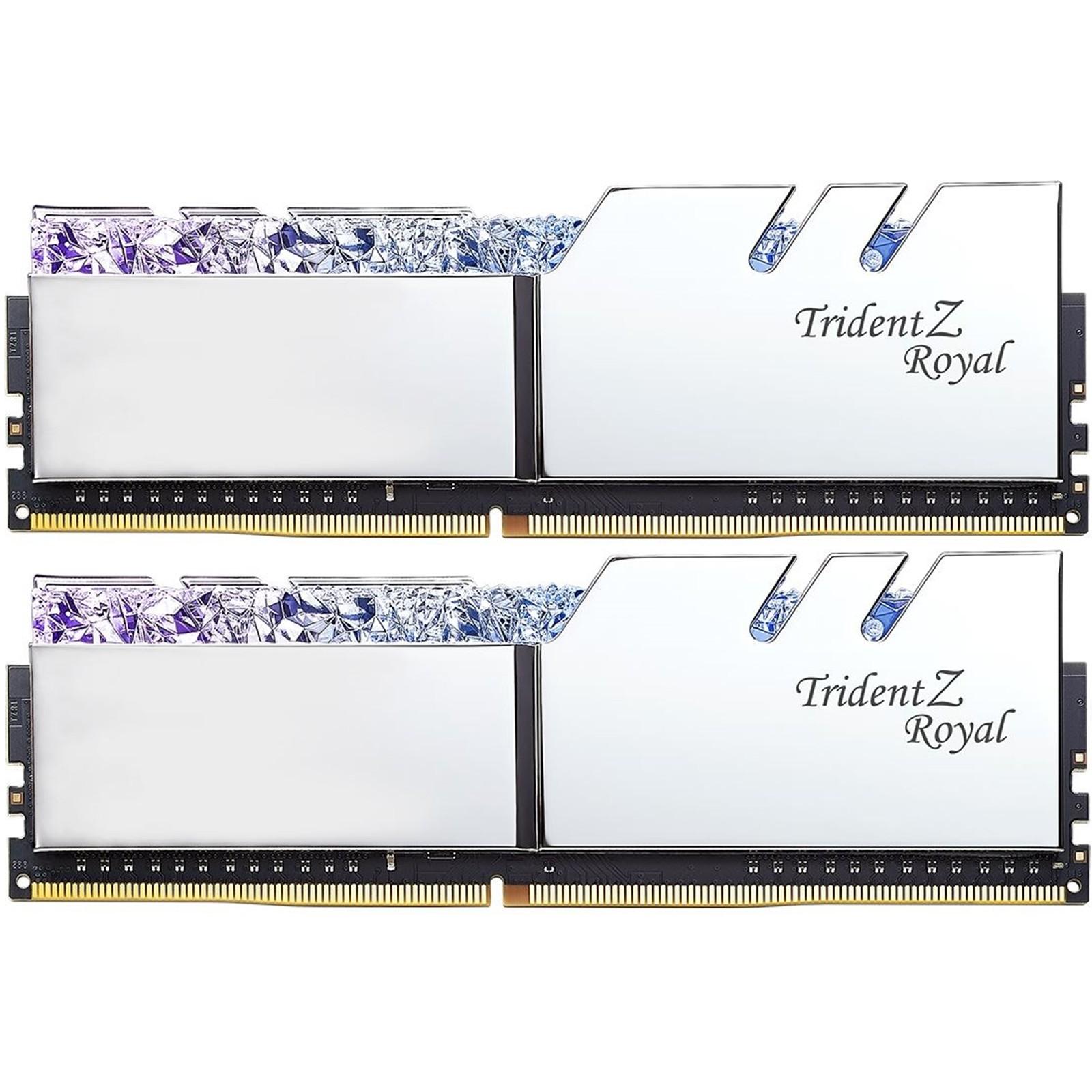 (Pre-Order) G Skill Trident Z Royal RGB 16GB (8GBx2) DDR4 3600MHz Gaming  Desktop/PC RAM (F4-3600C18D-16GTRS)